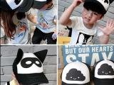 一件代发儿童帽子男女童潮宝宝耳朵棒球帽遮阳鸭舌帽多款嘻哈网帽