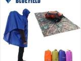 正品蓝色领域 户外登山超轻超薄多功能雨衣雨披 背包雨衣可做地席