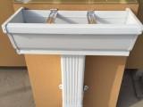 pvc屋檐排水槽 pvc方形雨水管 塑料檐槽蒂美生产