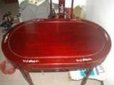 实木餐桌椭圆形餐桌