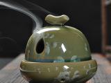 批发工艺陶瓷香薰炉 镂空香薰炉 佛教用品 陶瓷香器