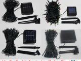 诚信厂家供应室外100头太阳能LED圣诞灯串节日装饰圣诞彩灯串灯