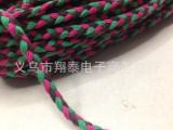 厂家直销三色辫子绳0.7CM宽花绳环保棉绳100米/捆
