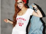 2014夏季新款韩版性感修身夜店显瘦短袖t恤女打底潮夏装时尚上衣
