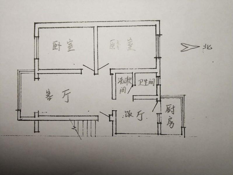 联盟 万宏国际对面省农垦局宿舍 2室 2厅 78平米 整租
