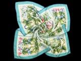 豌豆花大方巾 (嫩绿色)宋锦面料厂家