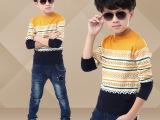 韩版新款秋冬季男童毛衣儿童针织衫童装羊毛衫花纹时尚厂家直销男