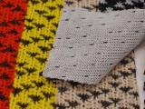 现货供应 千鸟格针织面料 仿羊毛面料