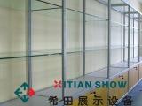 厂家直销 专业订做外贸公司样品间用单面靠墙玻璃展示柜高柜宁波