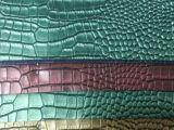 厂家直销 现货供应七彩鳄鱼纹皮革 箱包手