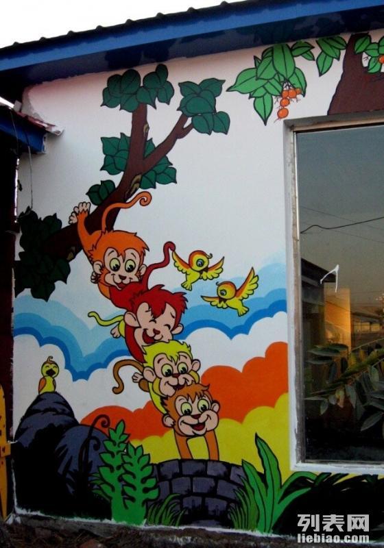 墙绘涂鸦 幼儿园墙绘 餐厅墙绘 酒店壁画 手绘墙 家装墙绘图片