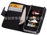 外贸热销iPhone3G/3GS PU平纹钱包手机皮套 左右开外