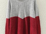 2015秋冬新款套头毛衣短款打底针织衫 A字型圆领女式上衣一件代
