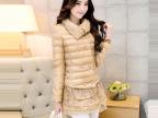 2014秋冬女装新款韩版立领棉服女士时尚修身棉衣气质中长款棉袄