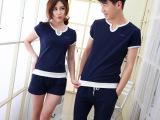 夏季新款情侣装夏装休闲套装运动套装短袖t恤韩版情侣衫班服