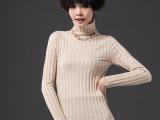 秋冬新款羊毛针织衫 长袖高领套头弹力修身女装纯色毛衣