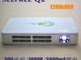 SEEFREE乐观Q2 微型投影机 led便携投影仪 高清高亮1