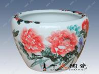 定做大陶瓷水缸,手工制作陶瓷大缸,大件装饰品陶瓷大缸
