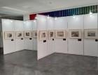 上海挂画展板租赁 学生作品展览展示架租赁布置