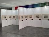 上海掛畫展板租賃 學生作品展覽展示架租賃布置