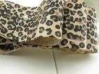 2.5cm豹纹罗纹带  缎带 手工蝴蝶结发饰发夹DIY 材料批发