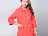 批发外套 呢子纯色大衣女款 韩版显瘦中长款羊毛女装女式外套