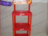 生产可口可乐塑料货架  超市三层塑料货架展示架 饮料陈列架