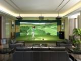 定制室内高尔夫模拟器设备4K高清电子软件韩国正版3D球场系统