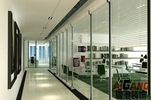 重庆办公室装修设计 办公室空间装饰设计 重庆爱港装饰