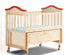 富贵宝贝168儿童床摇篮床多功能婴儿床实木摇床宝宝床