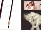 广州宝宝摄影上门理发现场制作胎毛笔