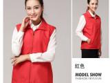 上海厂家定制纯色广告防水马甲 涤棉帆布义工马甲定做 可绣印LOG
