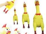 厂家直销绝望中的战斗鸡 小号惨叫鸡 整蛊发泄减压玩具 创意礼品