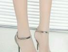 2016春夏新款欧美性感尖头高跟鞋一字扣带女鞋细跟单鞋侧