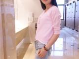 2015秋季新款韩国马卡龙色短款防晒针织开衫女 女式针织衫批发