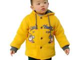 童装代理一件代发 1-2-3岁男孩秋冬加绒加厚外套开衫小熊高档棉