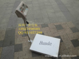上海华德150KG电子台秤,不锈钢称盘,台面尺寸MM