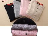 秋冬新款麻花绞花针织衫女式羊绒衫开衫复古毛衣外套女批发