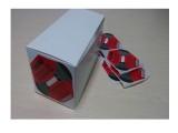 包装运输防震标签国产50G防冲击指示标签标贴