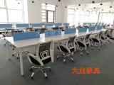 员工桌杭州办公家具屏风工作位职员蝴蝶脚带线槽