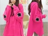 2013秋装新款女装韩版学生外套蝙蝠袖星星大码宽松卫衣潮