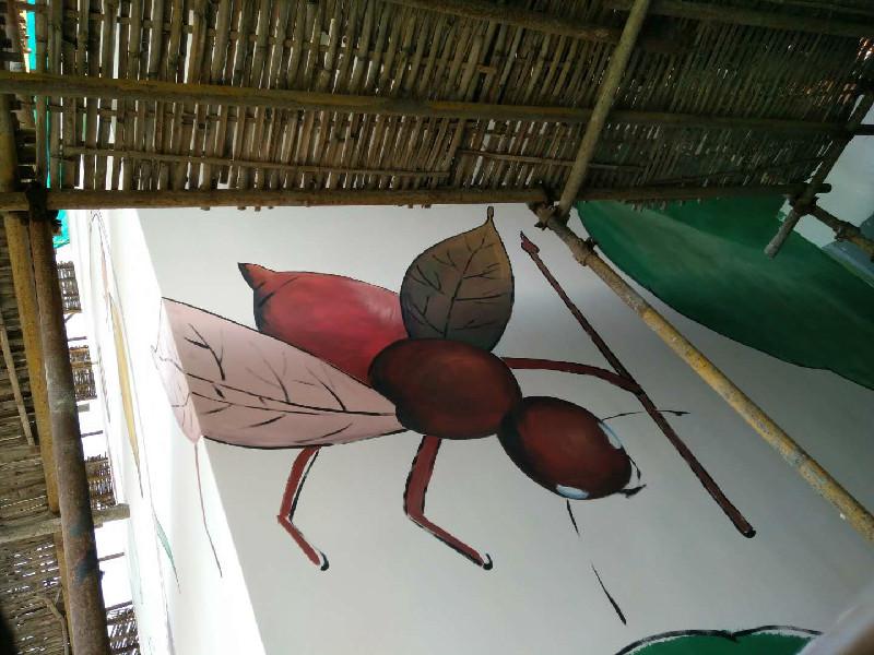 承德墙体彩绘工程绘画墙面彩色绘画