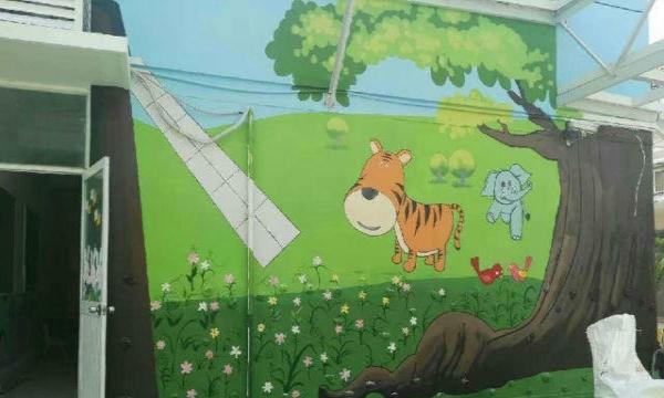 墙绘 彩绘 3d立体画 幼儿园彩绘 大型彩绘