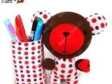 豆丁熊【响鱼】袜子娃娃手工diy创意玩偶
