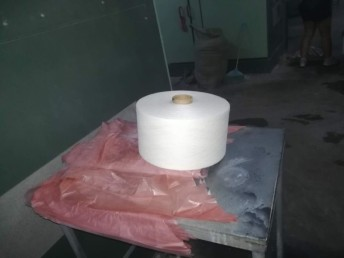 河北厂家直销18支气流纺仿大化涤纶纱