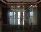 石家庄专业安装维修自动地簧感应玻璃肯德基门禁玻璃隔断高隔间
