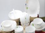冠福陶瓷 团圆28头家用餐具套装 米饭碗菜盘碟勺子 可微波炉 送礼