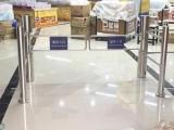 4柱圓柱超市感應門擺閘門禁系統感應門自動出入口閘門電動門禁