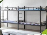 四人雙層床 連體上下鋪鐵床批發 價低物美