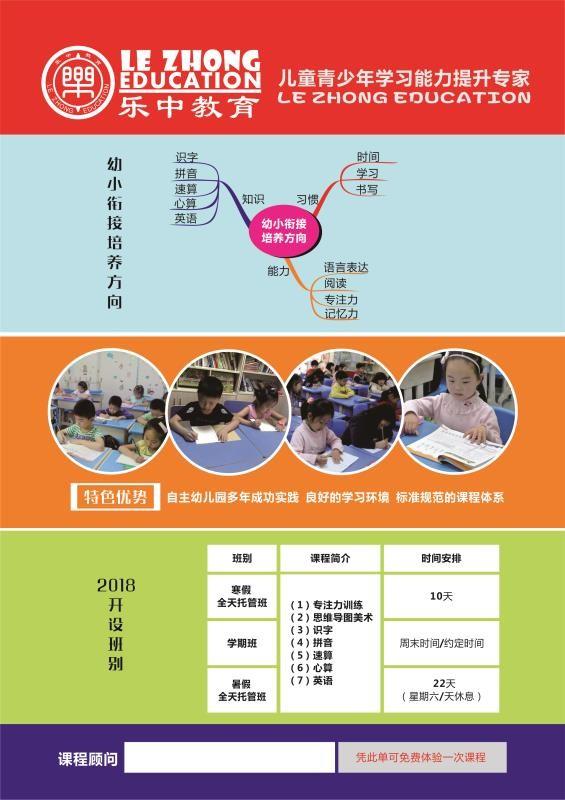 长沙乐中教育思维导图,专注力,学习能力培训